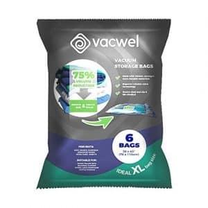 Vacwel Vacuum Storage Bags (Pack of 6)