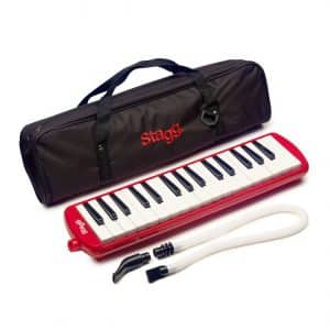 Stagg MELOSTA32RD Melodica with Case - Red