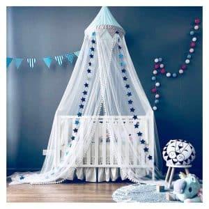 Dix-Rainbow Bed Canopy w/Pom Pom