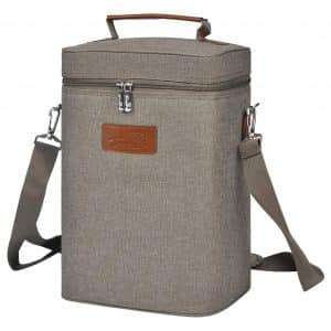 Tirrinia Insulated Wine Carrier Bottle Cooler Bag