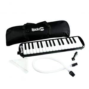 RockJam 32-Key Melodica with Carrying Bag & Cleaning Cloth