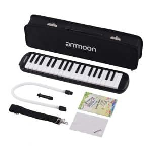 ammoon 37 Key Melodica Instrument-Black