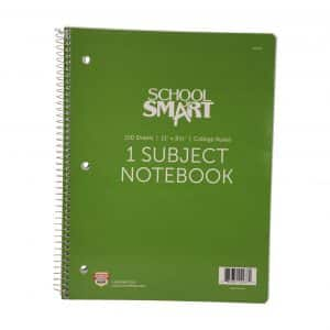 School Smart Ruled Notebook