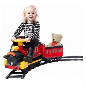 Rollplay Steam Train Battery-Powered toddler roller coaster