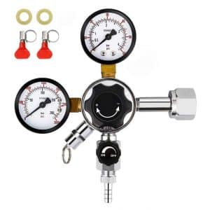 FERRODAY Dual Gauge CO2 Draft Beer Regulator