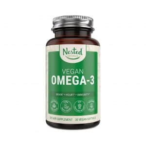 Nested Naturals Vegan Omega 3 DHA and EPA Supplement