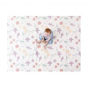 JumpOff Jo 76 in. x 58 in. Large Waterproof Play Mat for Toddlers and Infants