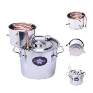 Seeutek 2 Gallons 8 litters water Alcohol Distiller Copper Tube Moonshine Still