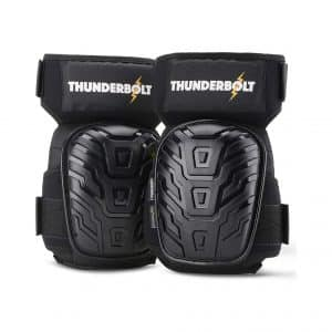 Thunderbolt Knee Pads for Work Double Gel Cushion