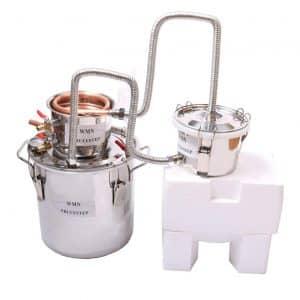 YUEWO 3 Pots DIY 2 Gallons 10 Litters Copper Alcohol Moonshine Ethanol