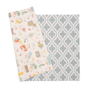 Baby Care Non-Toxic Reversible Double-Sided Play Mat for Infants