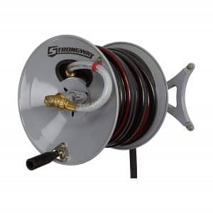 Strongway Parallel/Perpendicular/Wall-Mount Garden Hose Reel