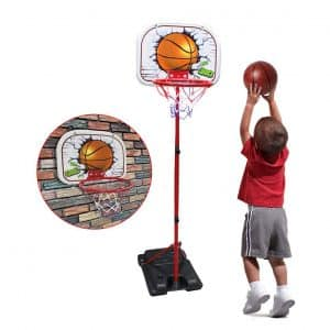 SOWOW Toddler Adjustable Indoor Basketball Hoop