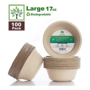 GreenTree 100% Biodegradable Disposable Bowls