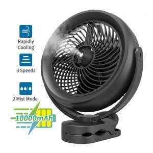 OPOLAR 1000mAh Battery Operated Cool Misting Fan