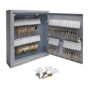 Sparco Key Cabinet for 60 Keys, Gray