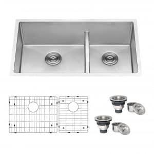 Ruvati 33-inch Low-Divide Undermount Kitchen Sink