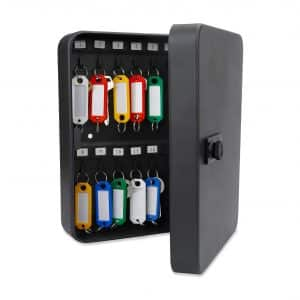 Uniclife 28-Key Cabinet Lock Box - Black