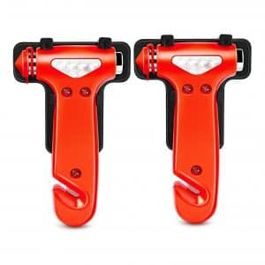 GOOACC Seatbelt Cutter and Window Breaker Tool for Car Safety, 2 Pack