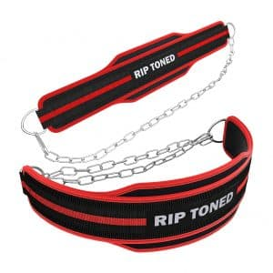 Rip Toned 36-inches Heavy-Duty Steel Chain Dip Belt