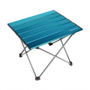TREKOLOGY Portable Camping Side Table with Aluminum Table