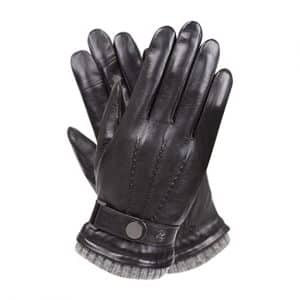 WARMEN Men's Winter Warm Leather Driving Texting Gloves