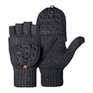 Loritta Winter Gloves Warm Wool Knit Fingerless Gloves