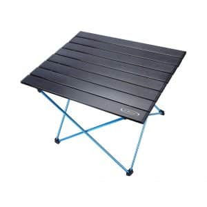 G4Free Portable Camping Table with Aluminum Tabletop and Carrying Bag