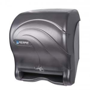 San Jamar T8490TBK Black Pearl Smart Essence Oceans Touchless Paper Towel Dispenser