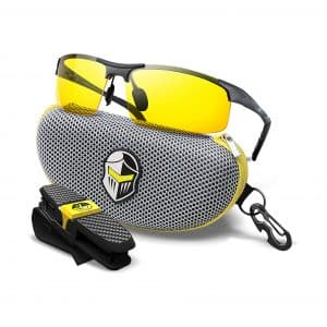 BLUPOND HD Semi Polarized Night Clear Vision Glasses for Driving