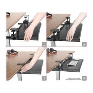 Defy Desk Clamp On Under Desk Ergonomic Keyboard Tray