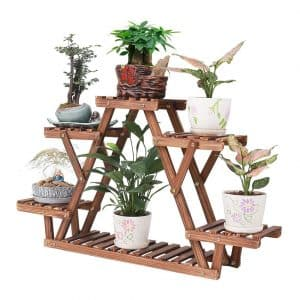 COOGOU Wood Plant Stand