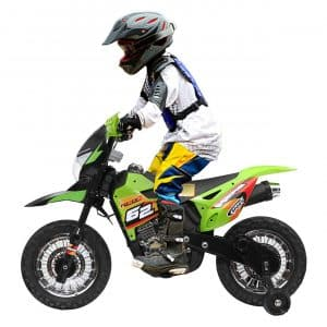JAXPETY Electric Motorcycle for Kids, Green