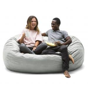 Big Joe Lenox Extra Large Fuf Foam Filled Bean Bag with Liner
