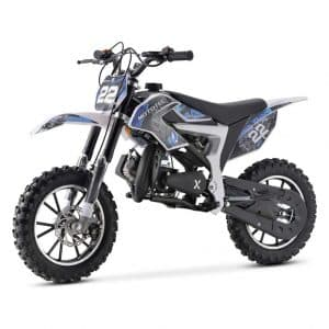 MotoTec 50cc Kids' Dirt Bike, Blue