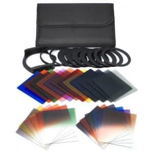 QKOO 17pcs Square Color Filters