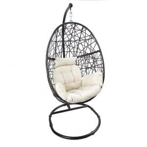Luckyberry Outdoor Wicker Hanging Chair