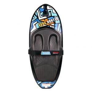 XGEAR Water-Sports Kneeboard with Handle Hook for Adults and Kids, Black/Blue
