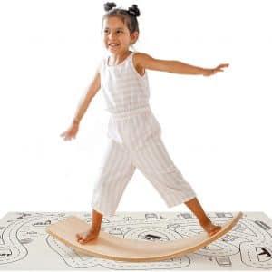 Crisschirs Wooden Wobble Balance Board