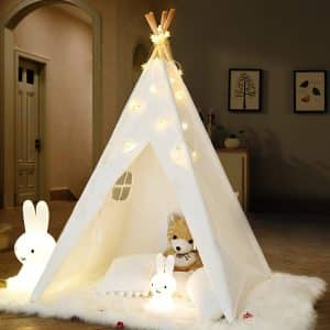 IREENUO Foldable Canvas Teepee for Kids