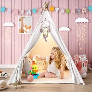Senodeer Large Teepee Tent for Kids