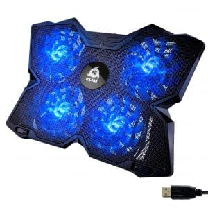 KLIM Laptop Cooling Pad - Light and Quiet (Blue)