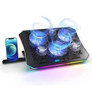 Vencci Laptop Cooler Pad with 6 Cooling Fans