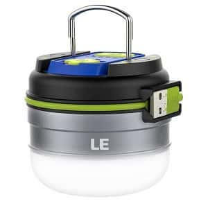 Lighting EVER LED Camping Lantern, Waterproof with a Magnetic Base