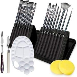 Adkwse Acrylics Paint Brush Set