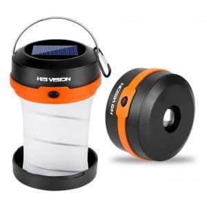HISVISION Solar-Powered LED Camping Lantern