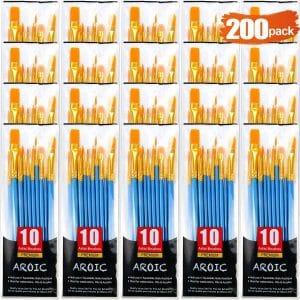 AROIC 20 Packs Paint Brush Set