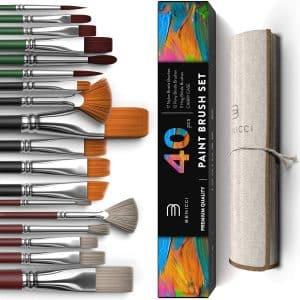 Benicci Easy Grip 40 Pcs Paint Brush Set