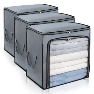 DIMJ Foldable Clothes Storage Bag