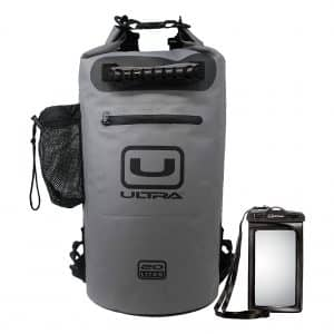 Ultra Waterproof Dry Bag with Shoulder Straps and Zippered Pocket